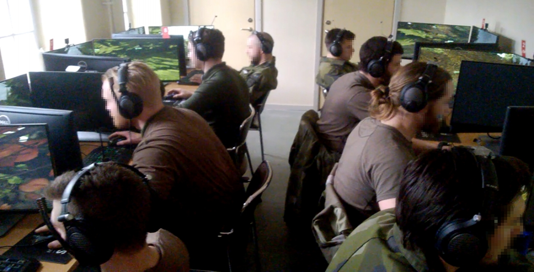 Swedish Armed Forces virtual training VBS3