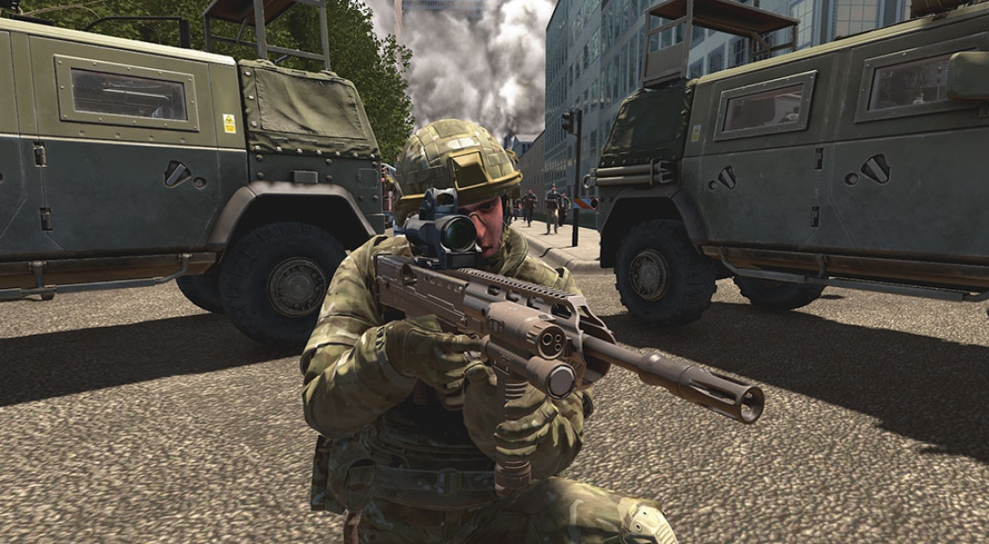 VBS4 enables soldiers to train at scale anywhere on the planet.
