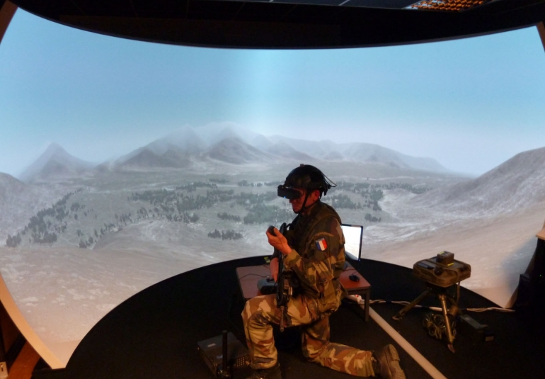FAC French Air Force Forward Air Controller JTAC military simulation training dome display systems projection systems