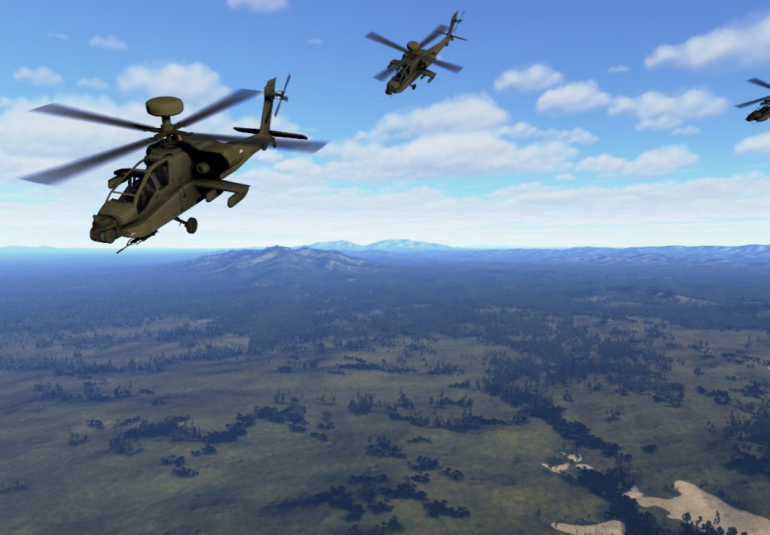 VBS Blue IG is a 3D virtual open world simulation and whole-earth image generator for military training