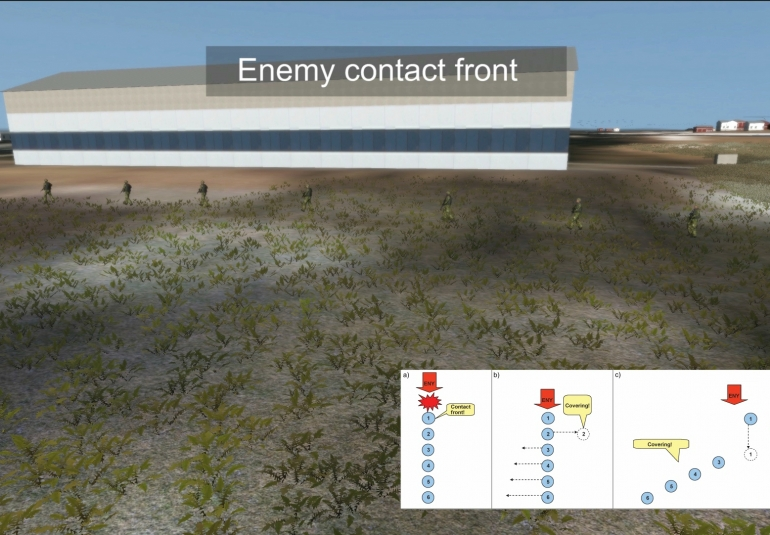 FFI Battle Drill using VBS Control Editor Artificial Intelligence in VBS3