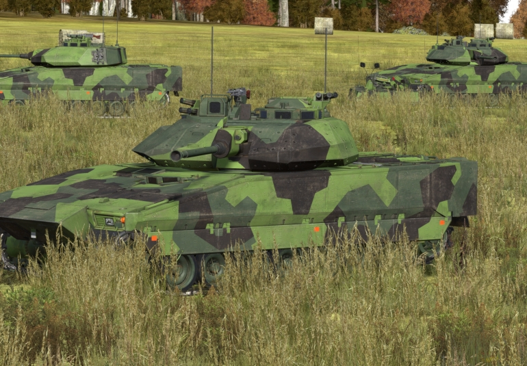 CV9040 in VBS3 for gunner, driver and commander training and simulation