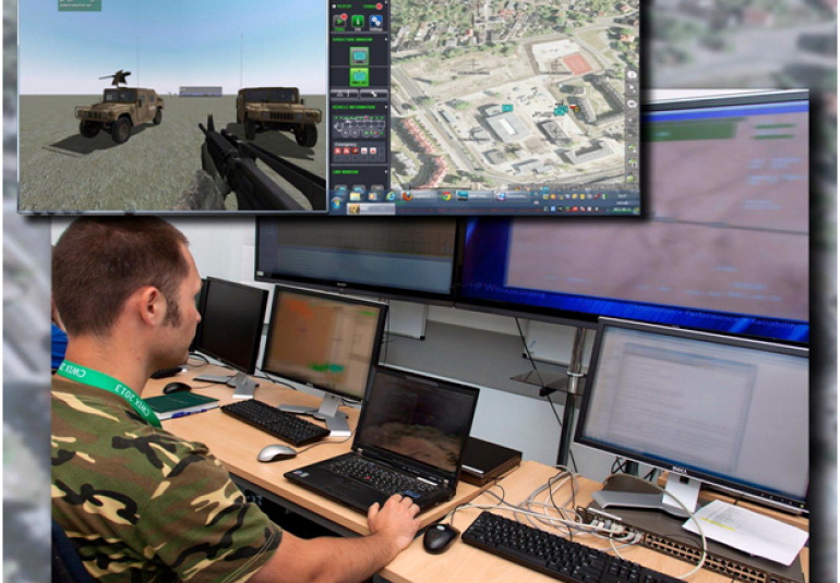 Interoperability testing at NATO between TELDAT's BMS JASMINE and VBS3.