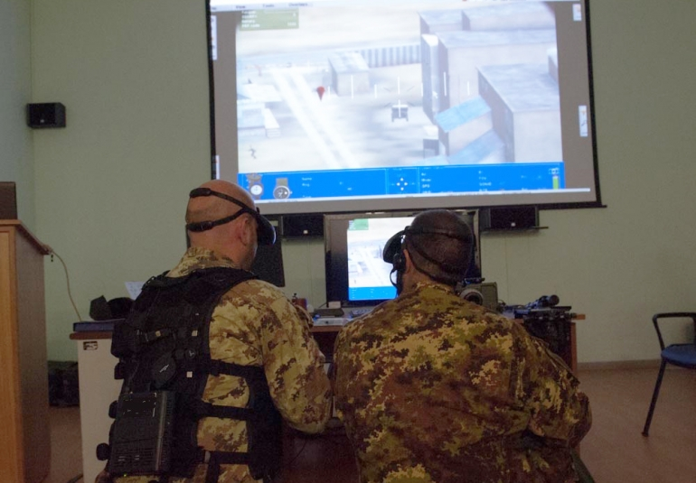 FAC military simulation virtual training HMD