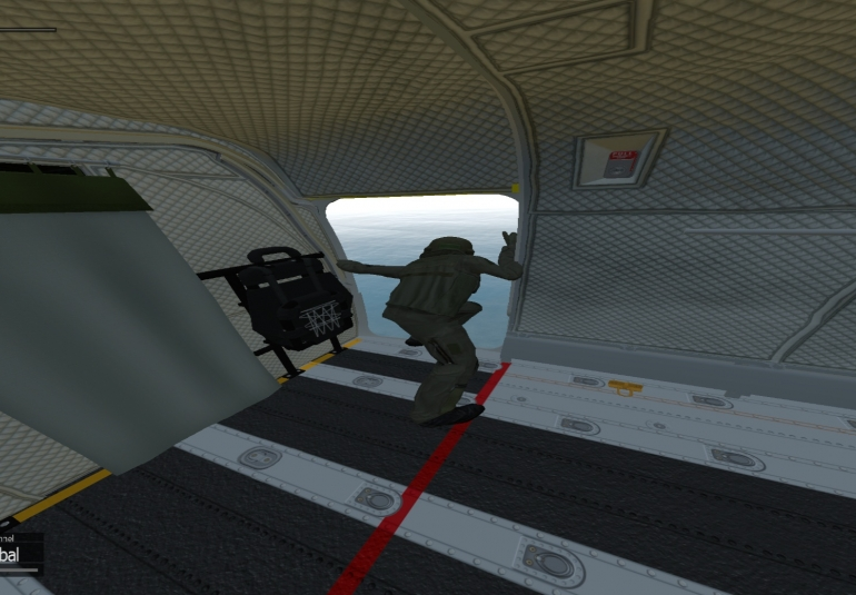 virtual reality helicopter aircrew trainer vbs3 military simulation training OSVR